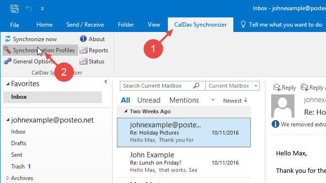 Outlook 2016 with CalDAV - مرکز آموزش - Lowest Host/Empire